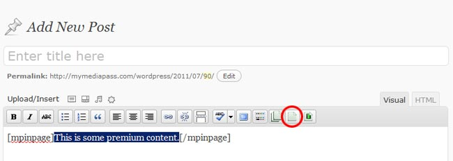 MP plugin for inserting in-page in the WP post editor